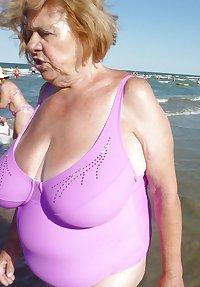 granny bbw beach 4